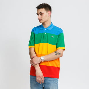 LACOSTE Polaroid Colour Striped Classic Fit Polo Shirt