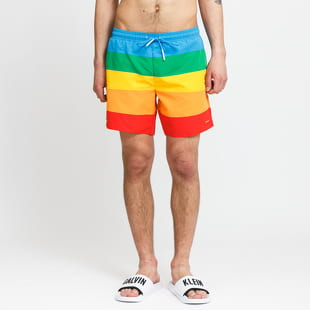 LACOSTE Polaroid Colour Striped Swimming Trunks