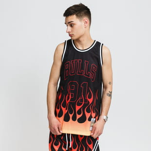 Mitchell & Ness NBA Flames Swingman Jersey Bulls 97