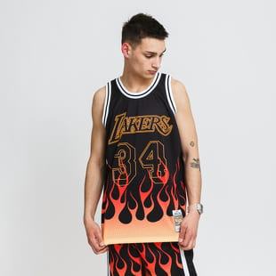 Mitchell & Ness NBA Flames Swingman Jersey LA Lakers 96
