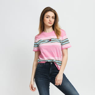 TOMMY JEANS W Regular Center Badge Stripe Tee