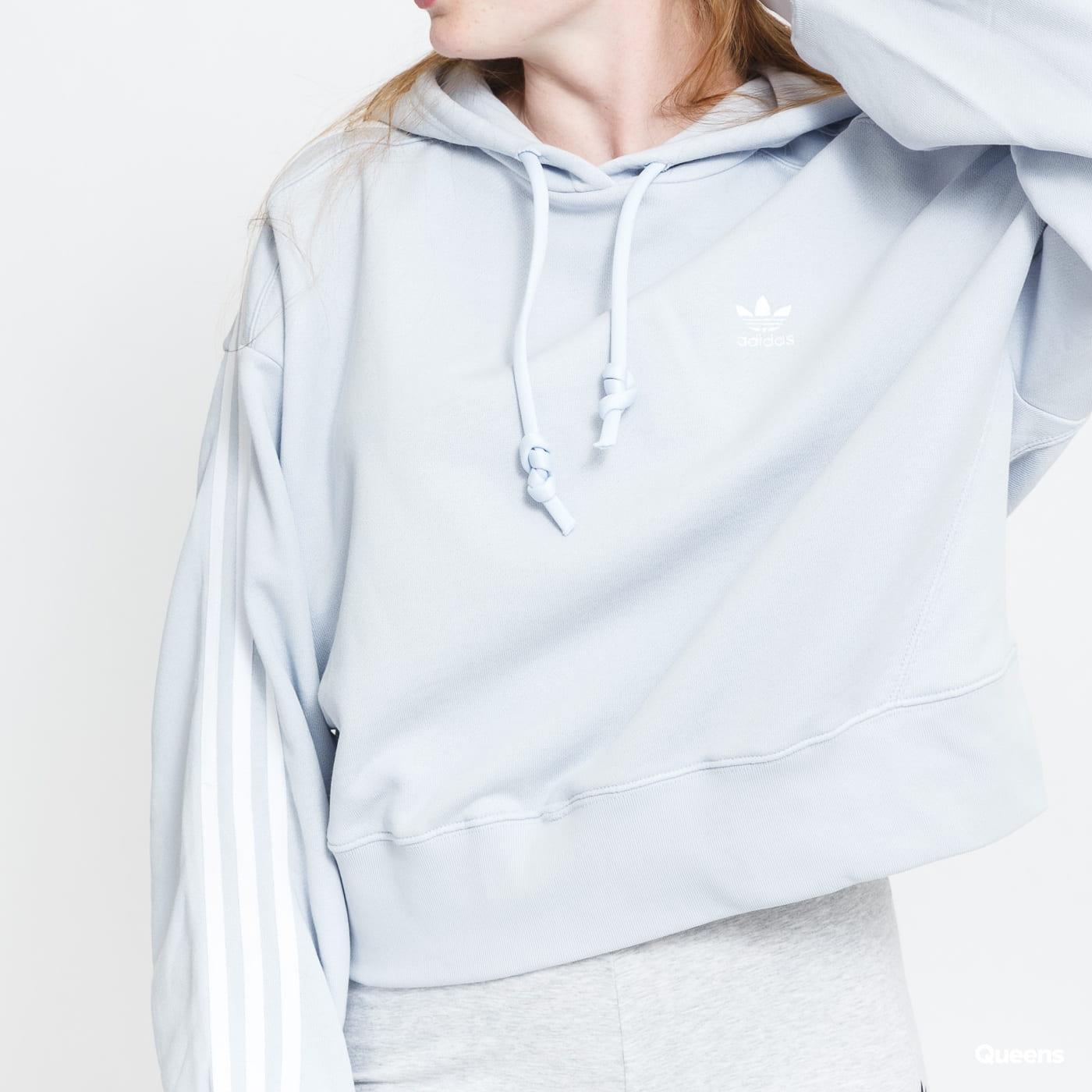 adidas Originals Short Hoodie light blue