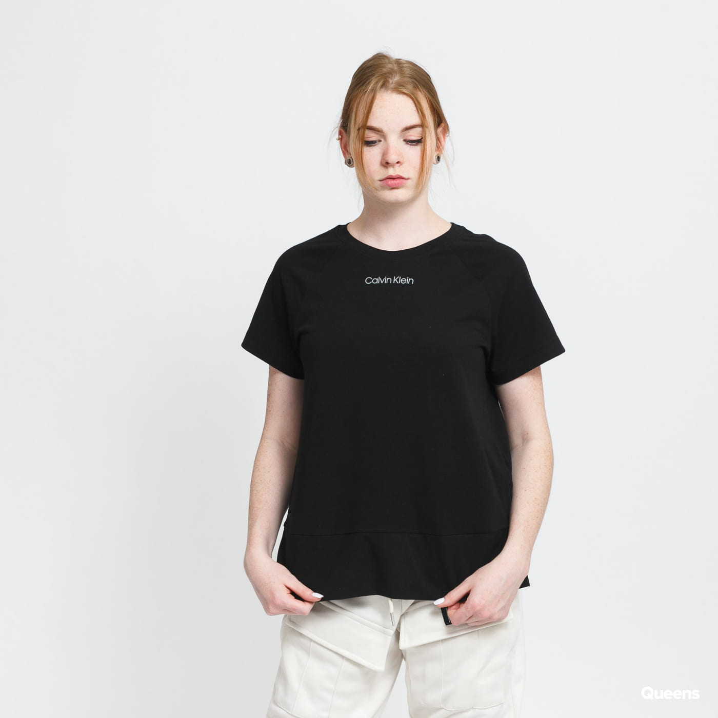 Calvin Klein SS Crew Neck black stone washed no length