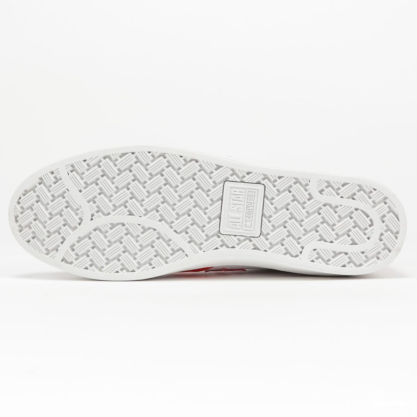 Converse Pro Leather OX white / bright poppy / white