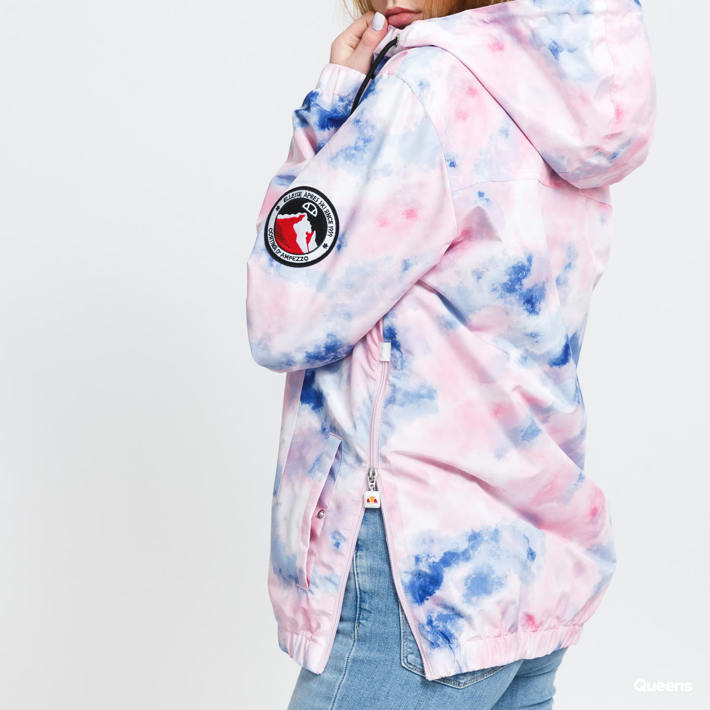 ellesse Montez Tie Dye Jacket pink / navy