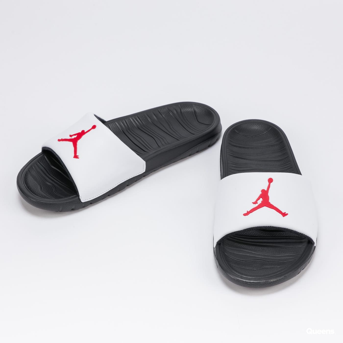 Jordan Break Slide black / university red - white