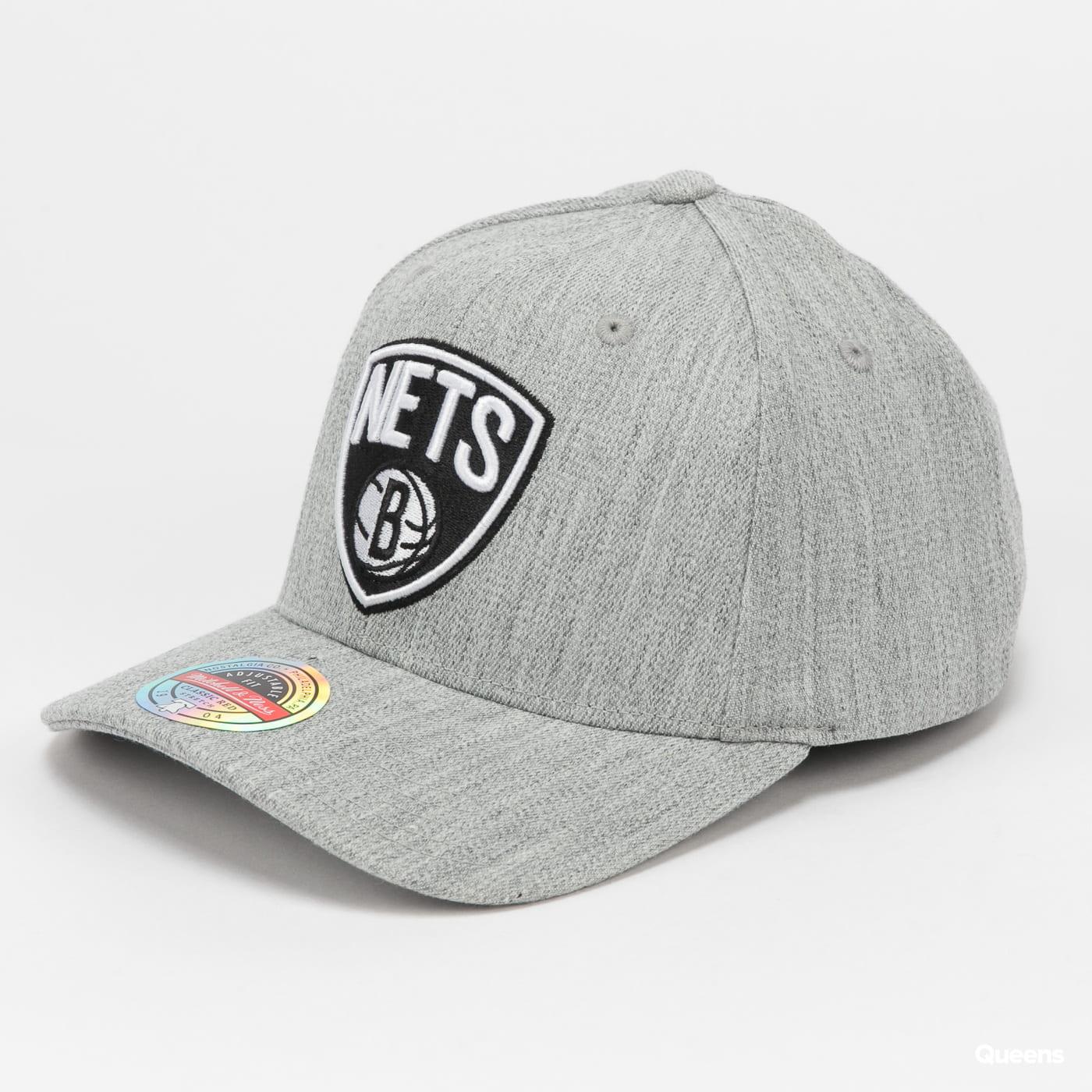 Mitchell & Ness NBA Team Heather Snapback Nets melange gray
