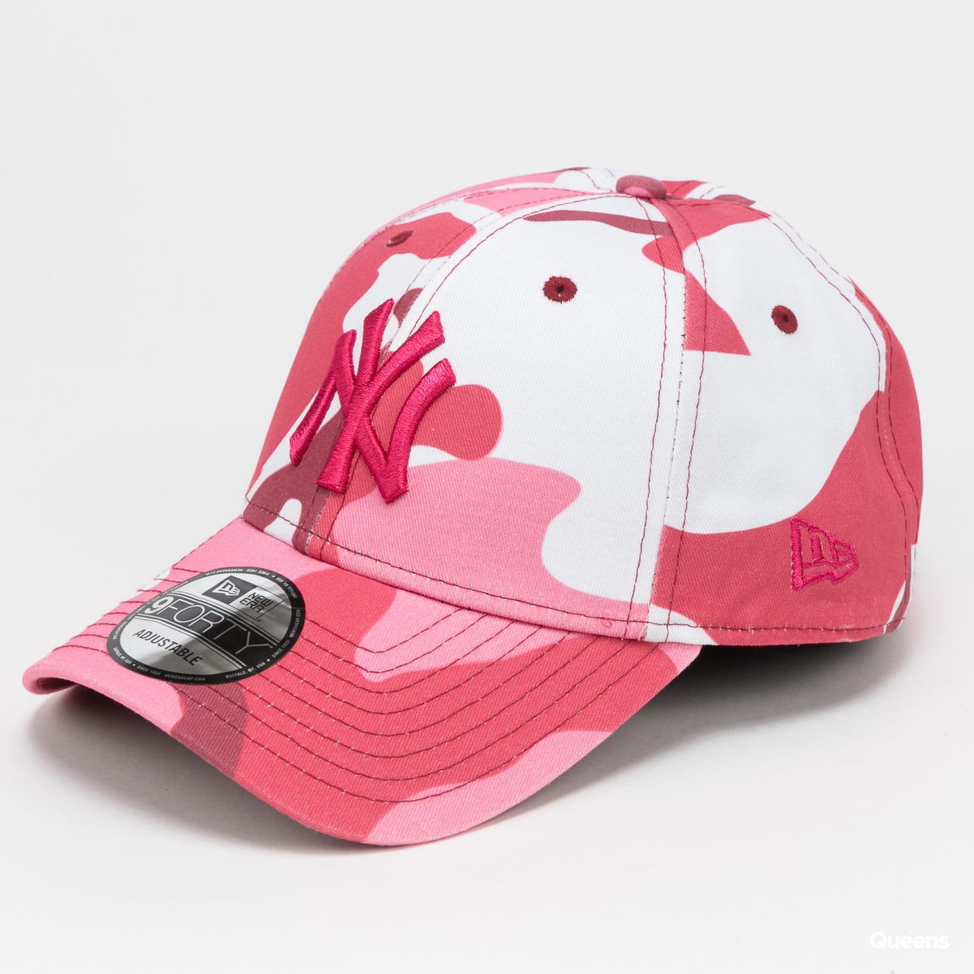 New Era 940 MLB Camo Pack NY burgundy / pink / white