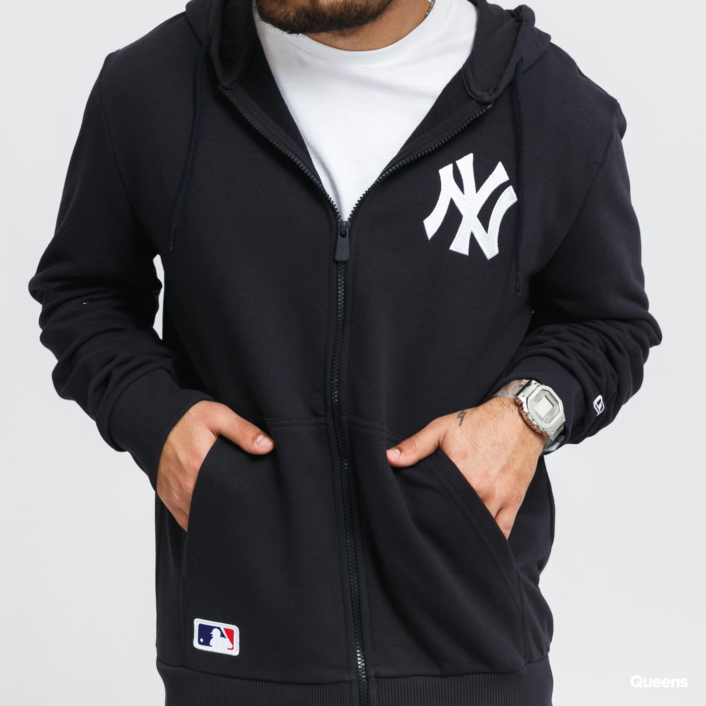 New Era MLB Logo Full Zip Hoody NY blue / turquoise
