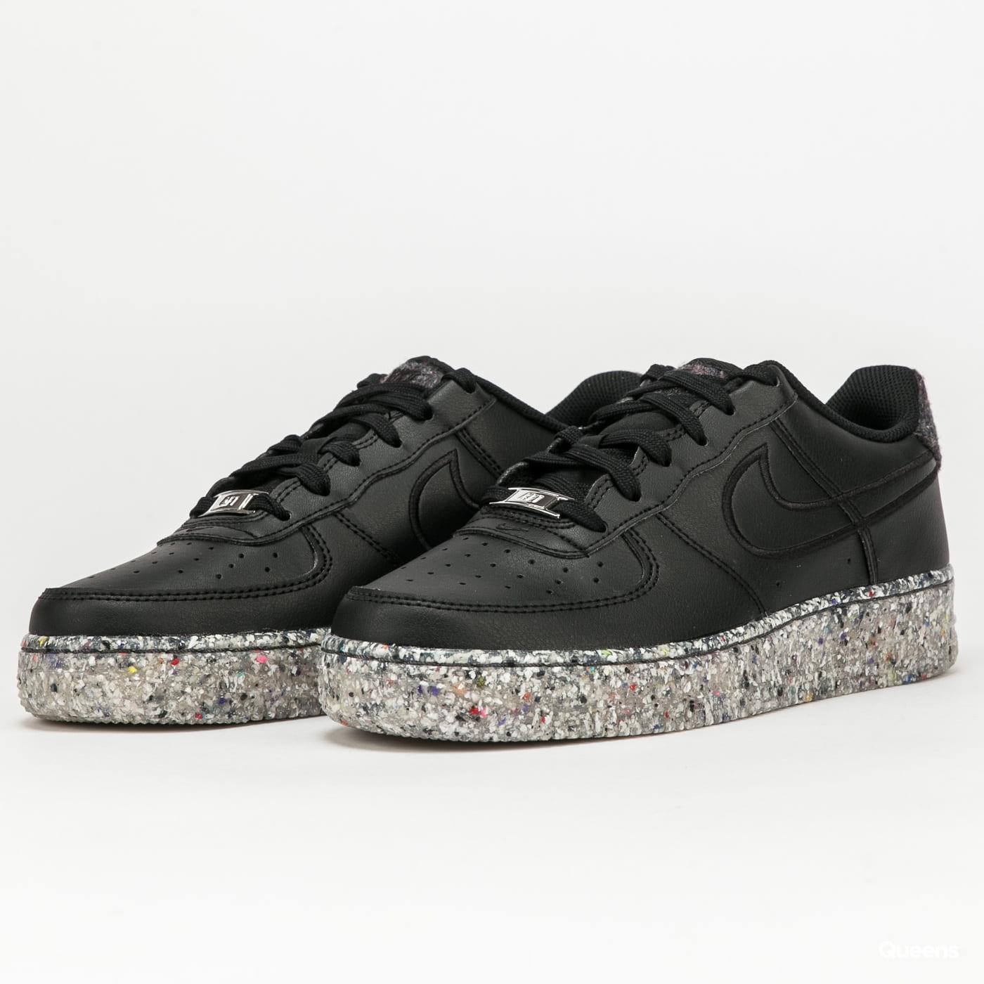 Nike Air Force 1 KSA (GS) black / black - metallic silver (DB2813 ...