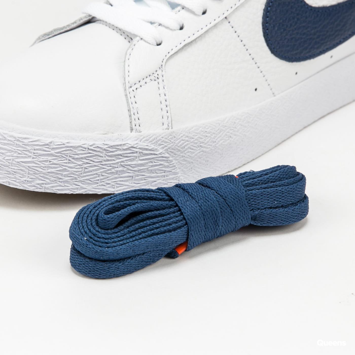 Nike SB Zoom Blazer Mid ISO white / navy - white - safety orange