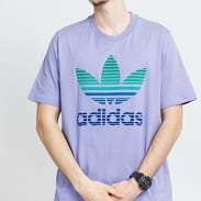 adidas Originals Trefoil Ombré Tee fialové