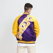 Mitchell & Ness Colossal Jacket LA Lakers fialová / žlutá