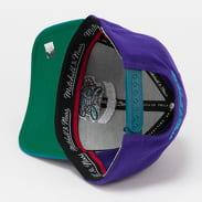 Mitchell & Ness Wool 2 Tone Redline Snapback Hornets fialová / tyrkysová / zelená
