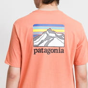 Patagonia M's Line Logo Ridge Pocket Responsibili Tee oranžové