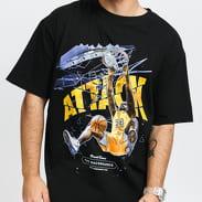 Urban Classics Attack Player Oversize Tee černé