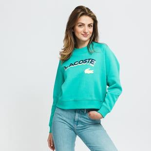 LACOSTE Women's Lacoste LIVE Lettered Cropped Sweatshirt