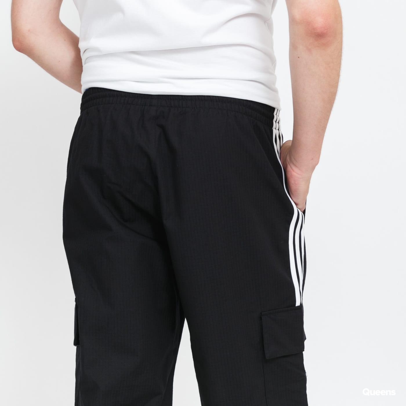 adidas Originals 3-Stripes Cargo Pants black stone washed no length