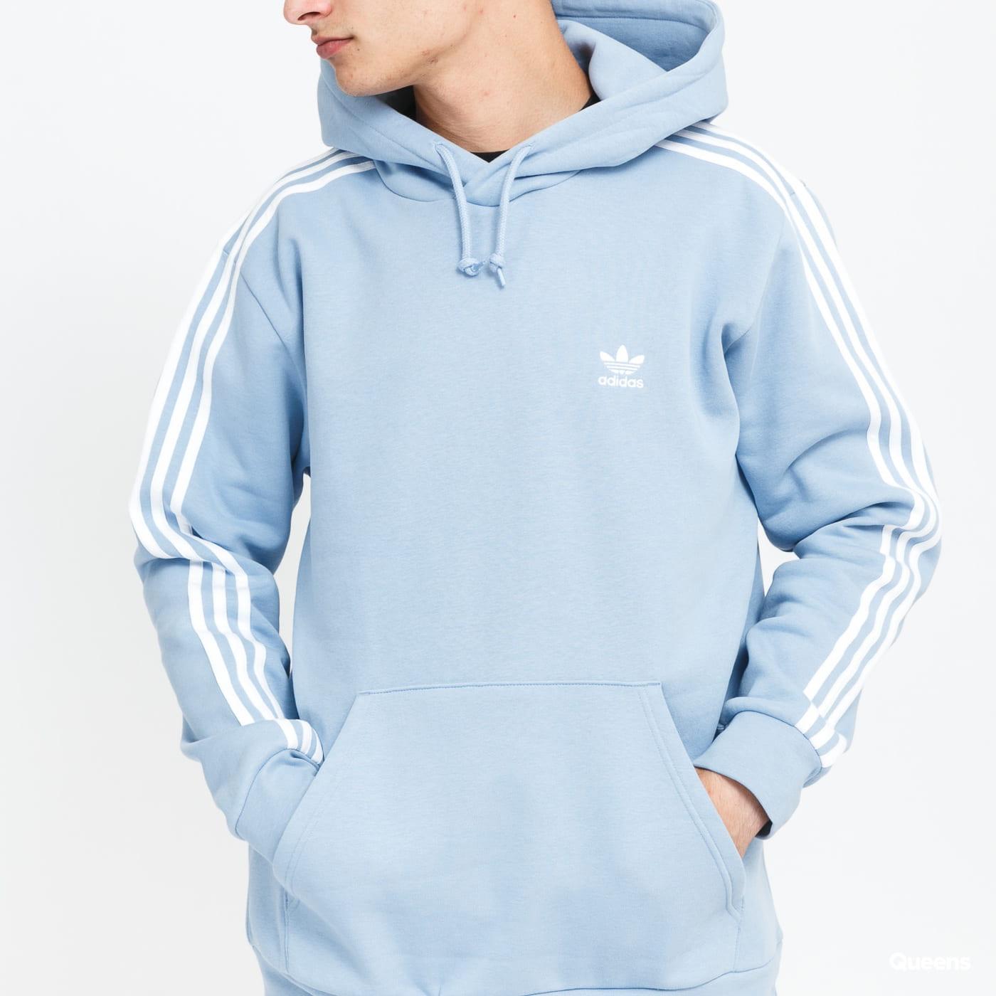 adidas Originals 3Stripes Hoody light blue