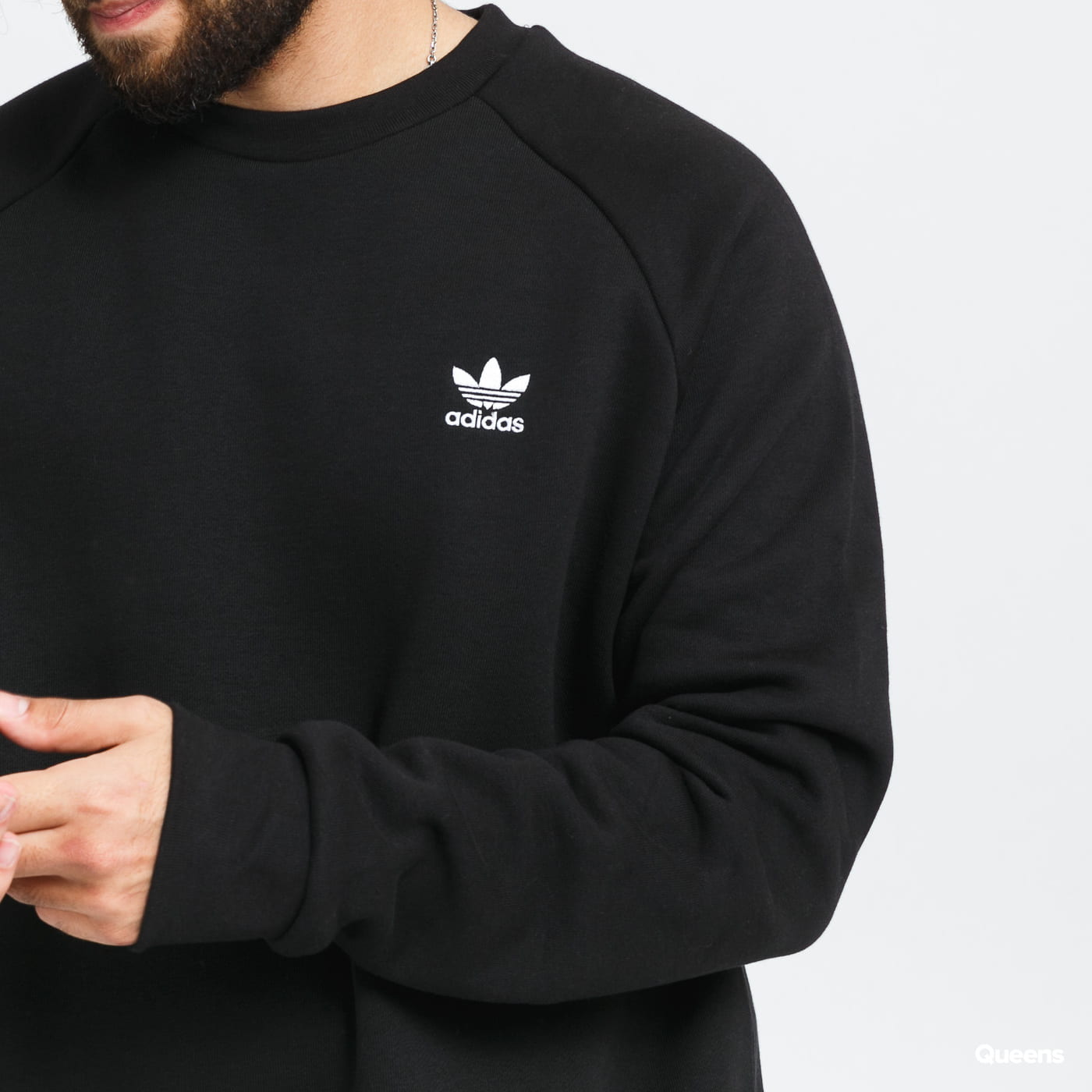 adidas Originals Essential Crew gray / beige / pink / black