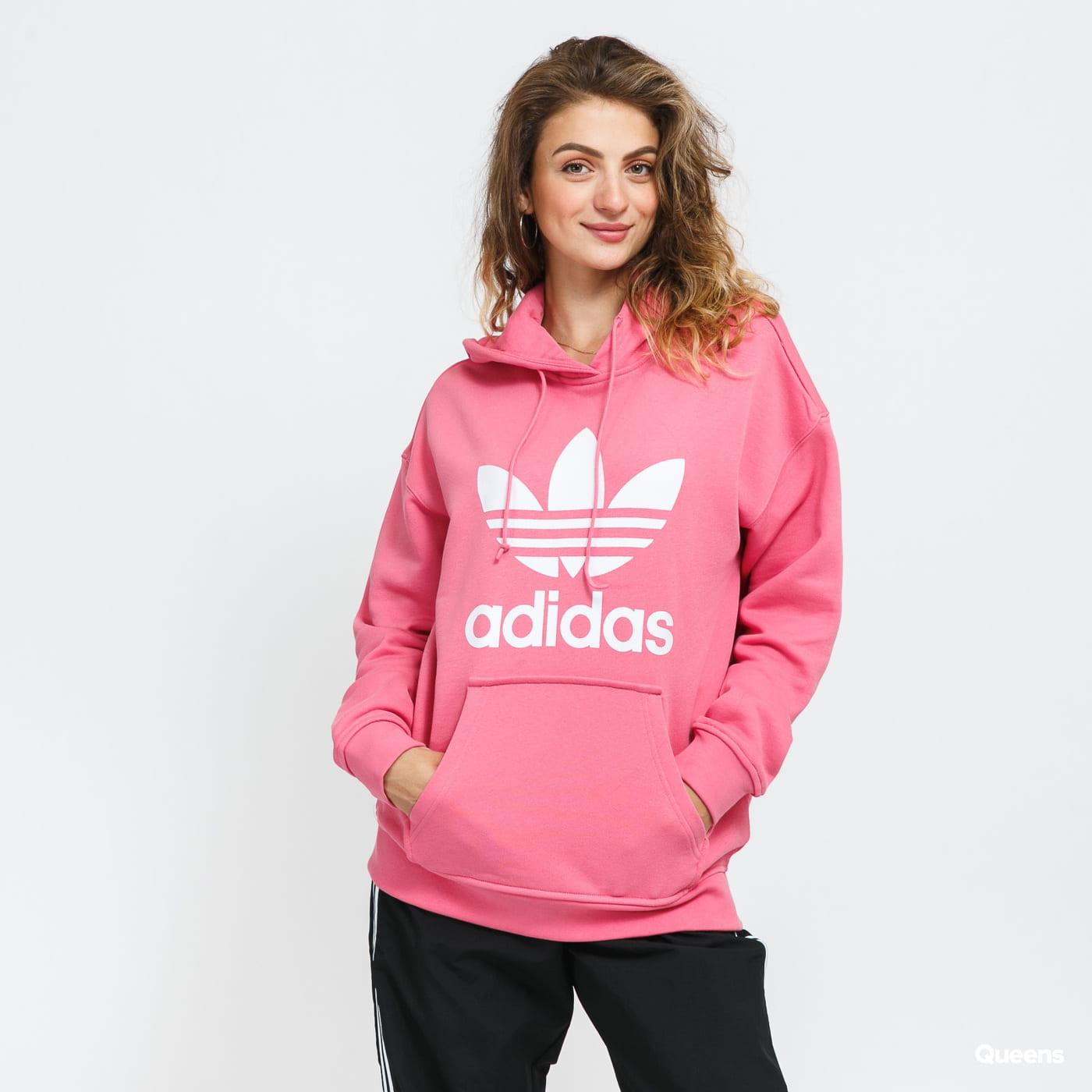 adidas Originals Trefoil Hoodie růžová