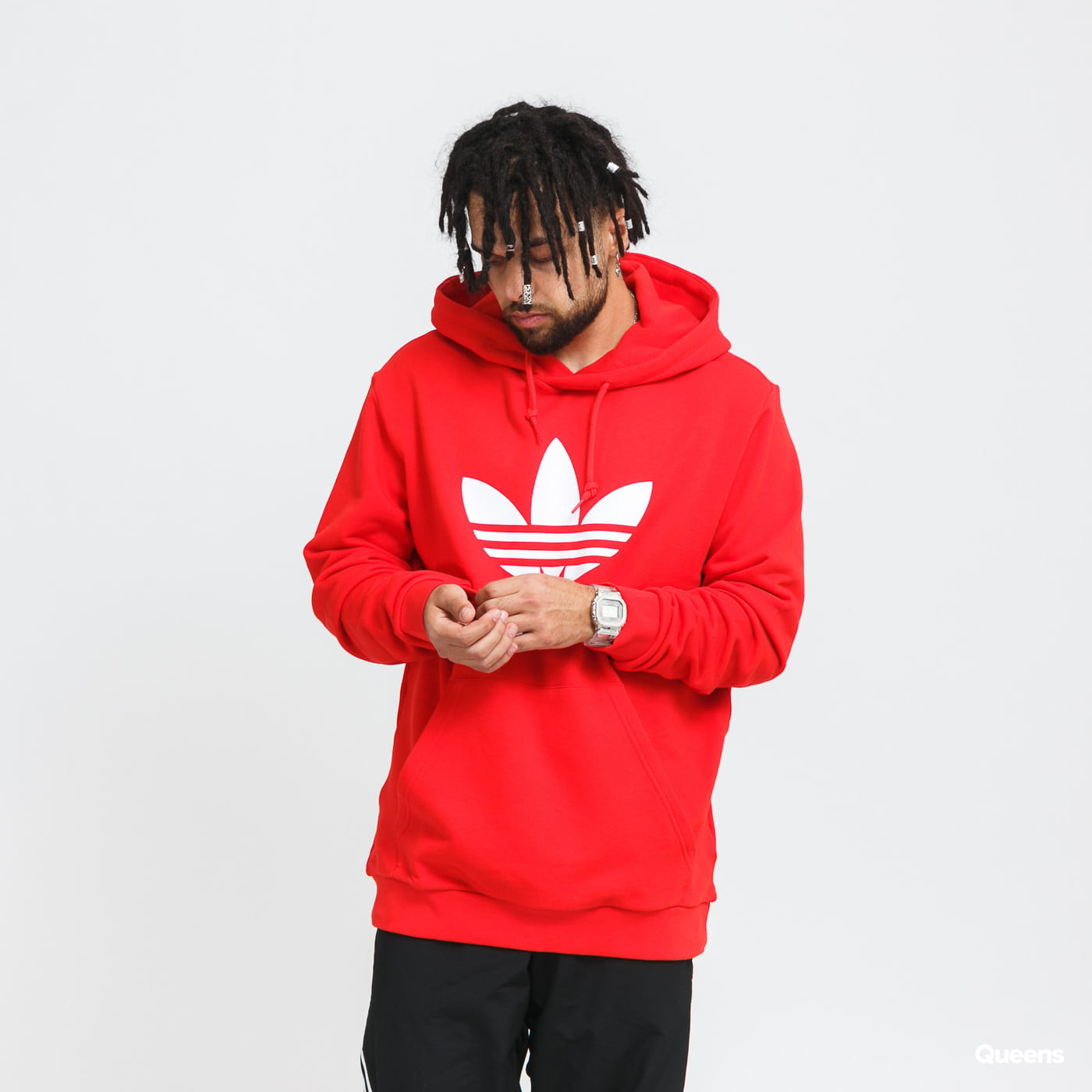 adidas Originals Trefoil Hoody red / white