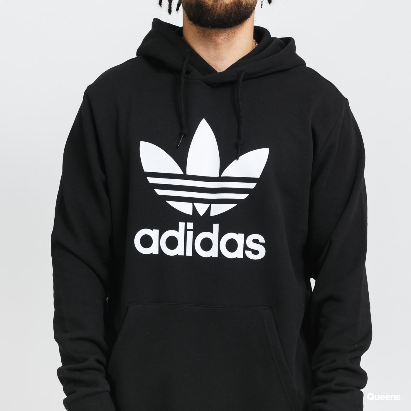 adidas Originals Trefoil Hoody gray / beige / pink / black