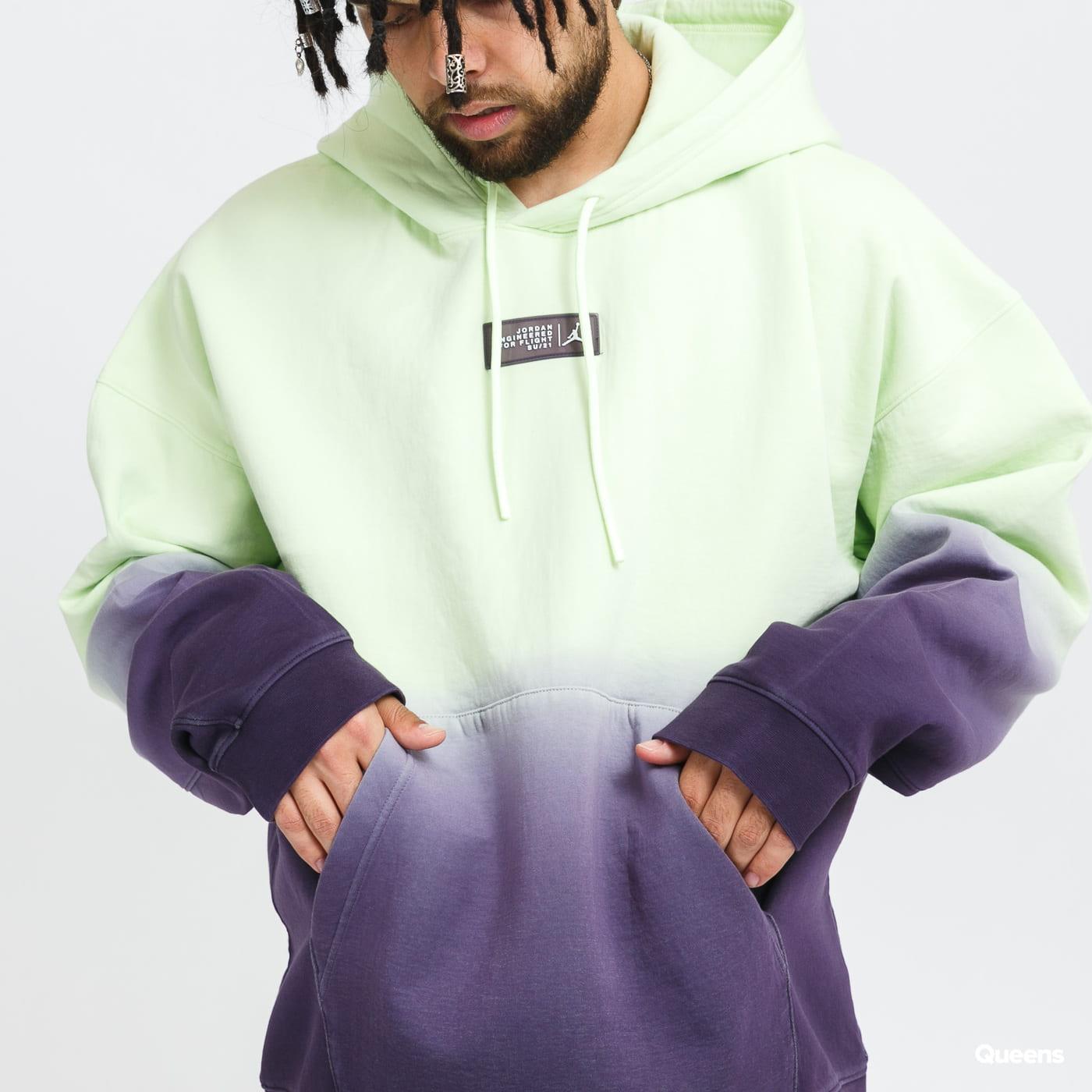 Jordan M J 23ENG Fleece Top light green / purple