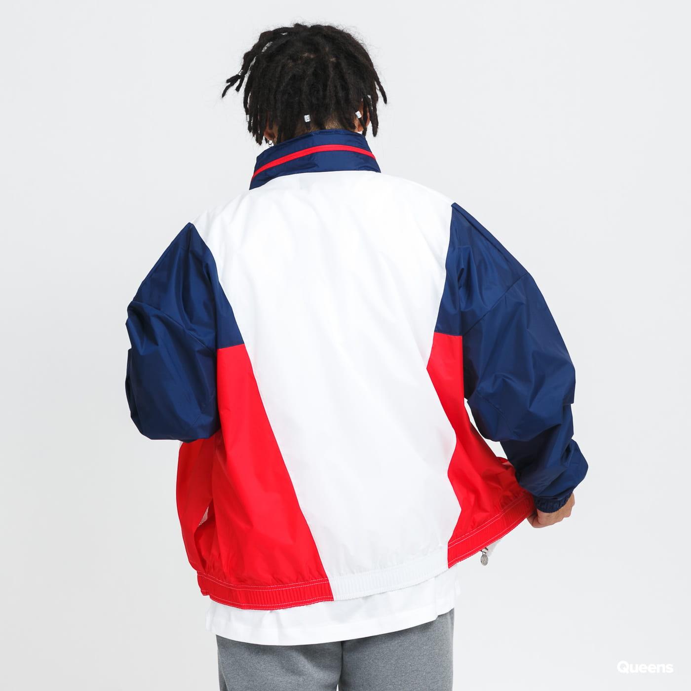 Jordan M J PSG Nylon Hooded Jacket white / red / navy