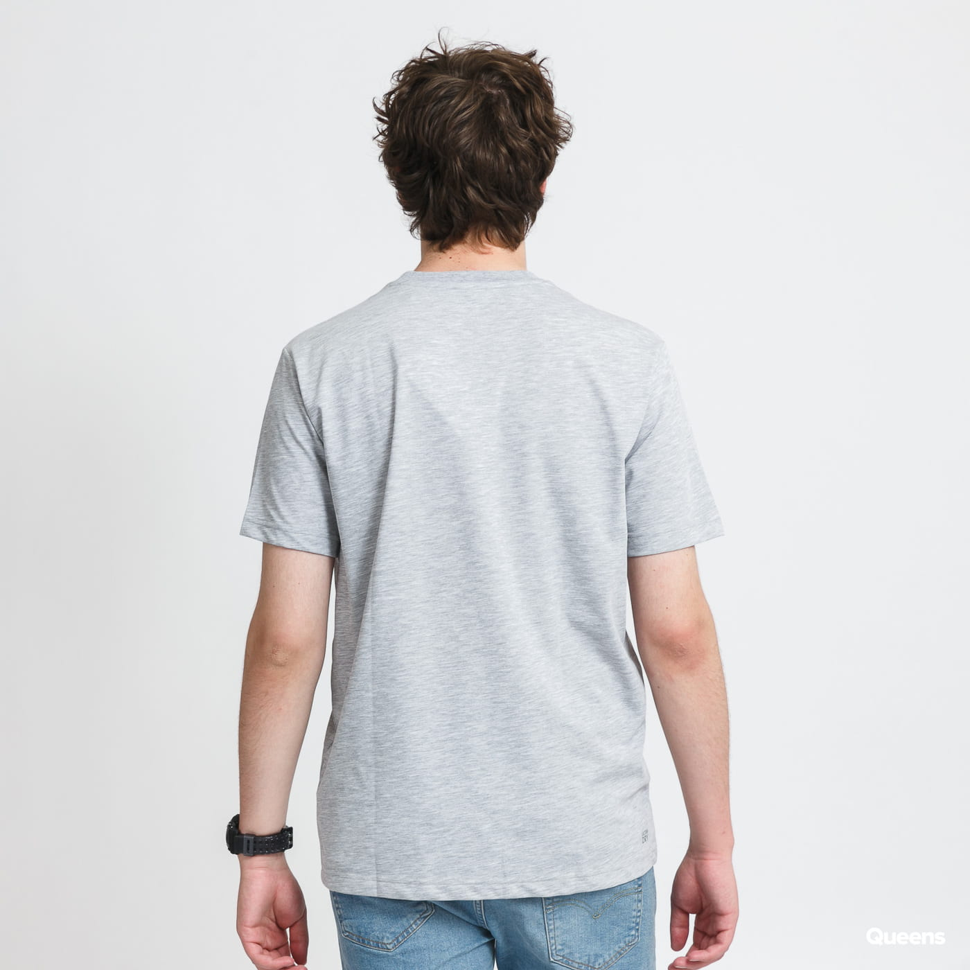 LACOSTE Men's Sport 3D Print Tee melange gray