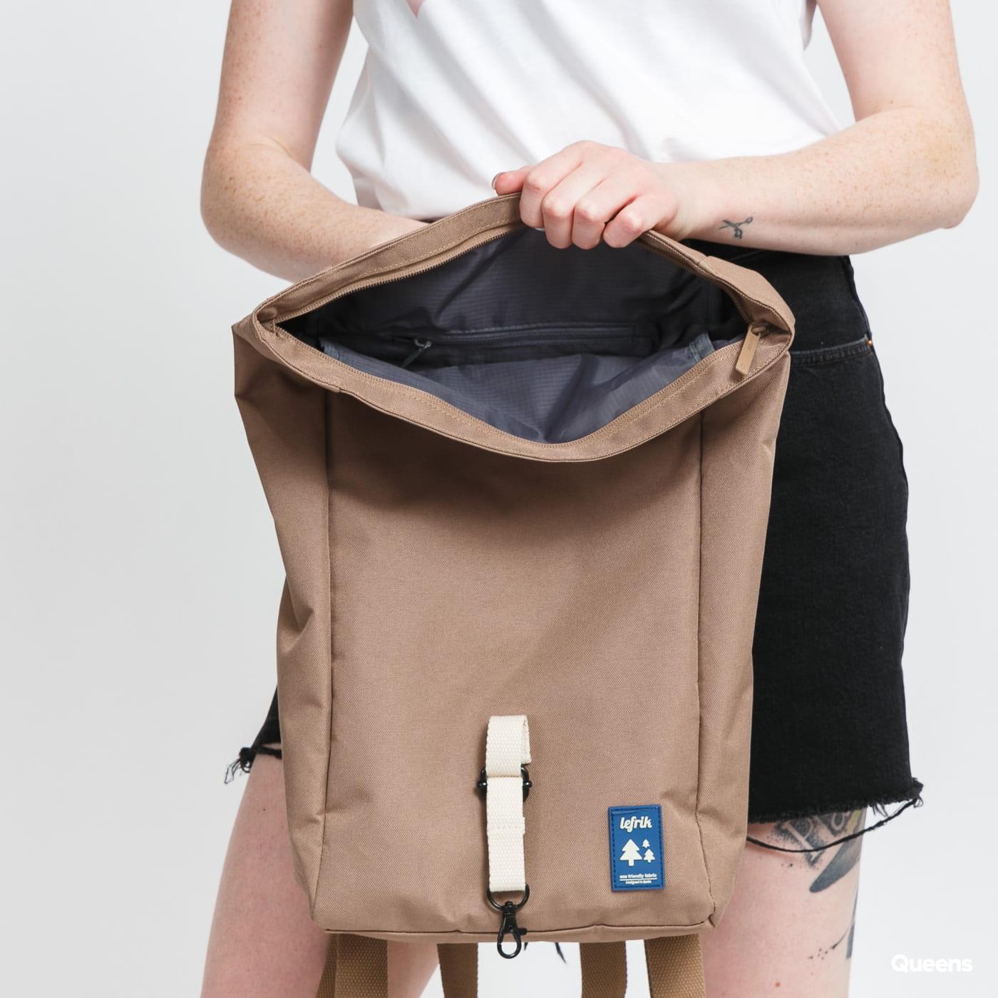 Lefrik Roll Mini Rucksack hnědý