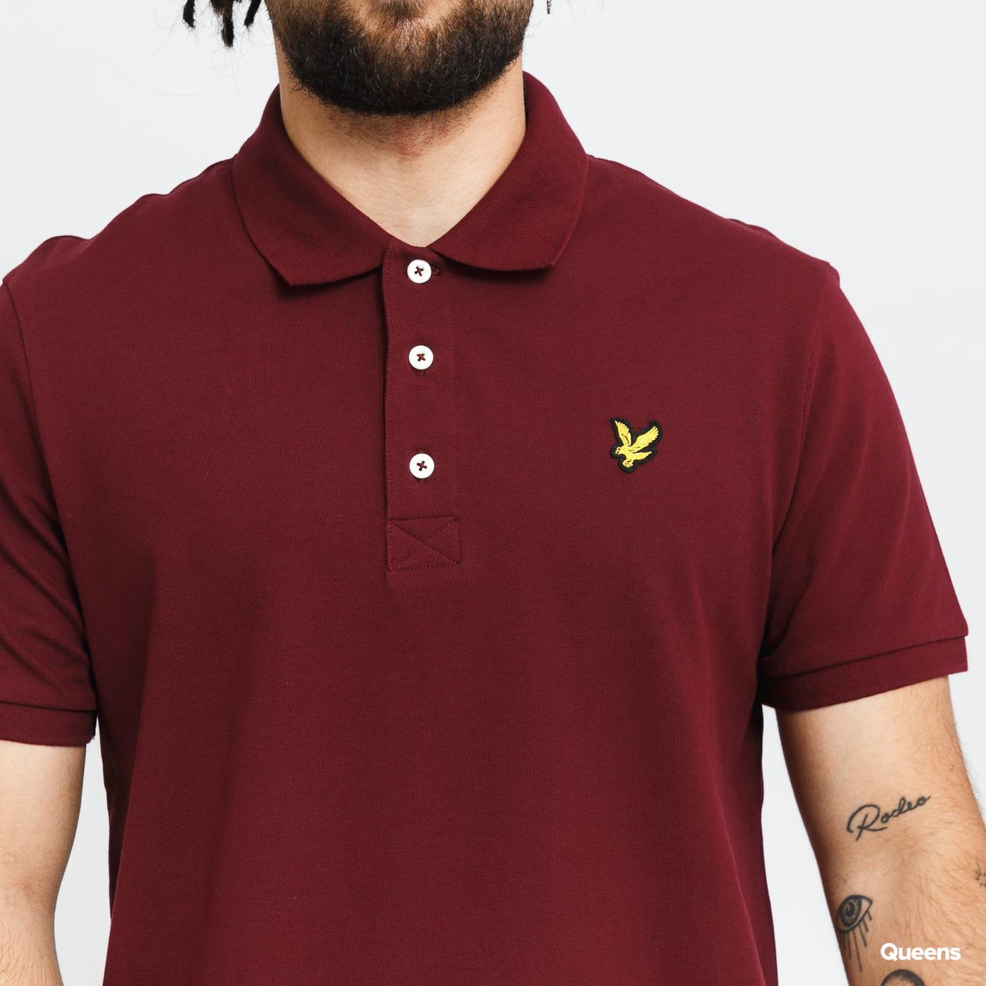 Lyle & Scott Plain Polo Shirt bordeaux