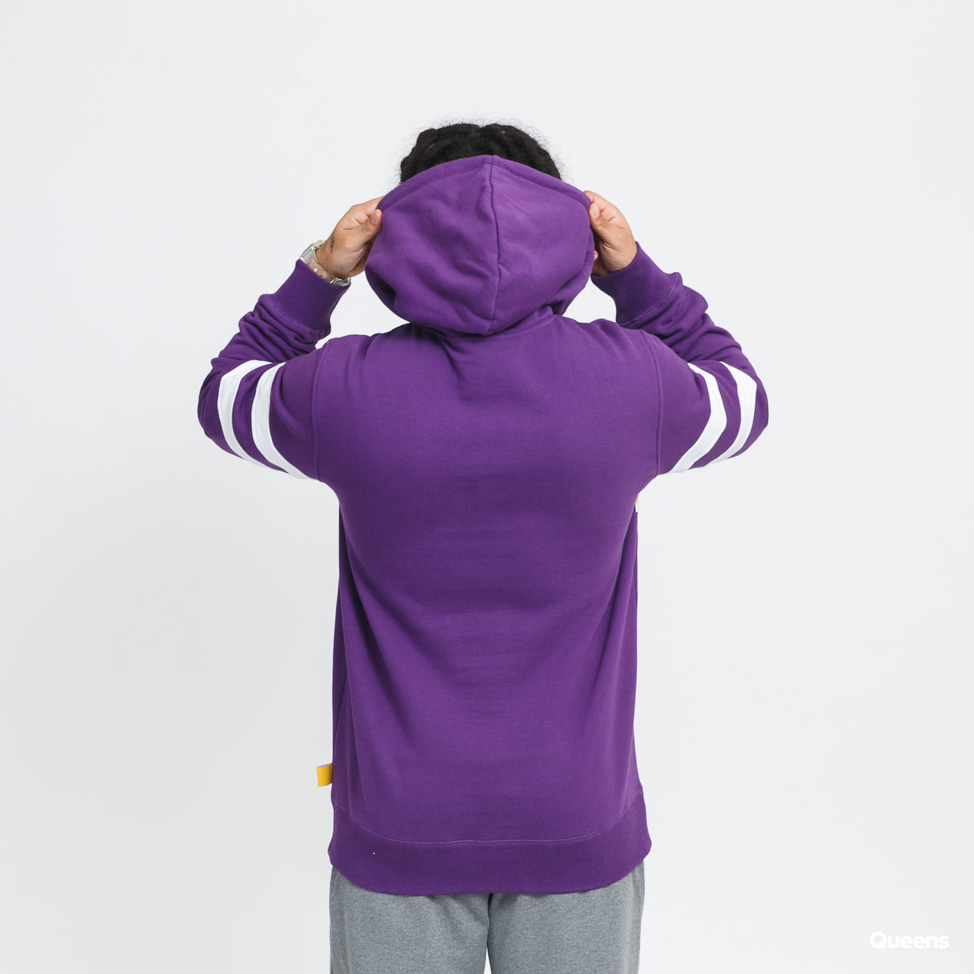 Mitchell & Ness Substantial Fleece Hoodie LA Lakers purple / yellow