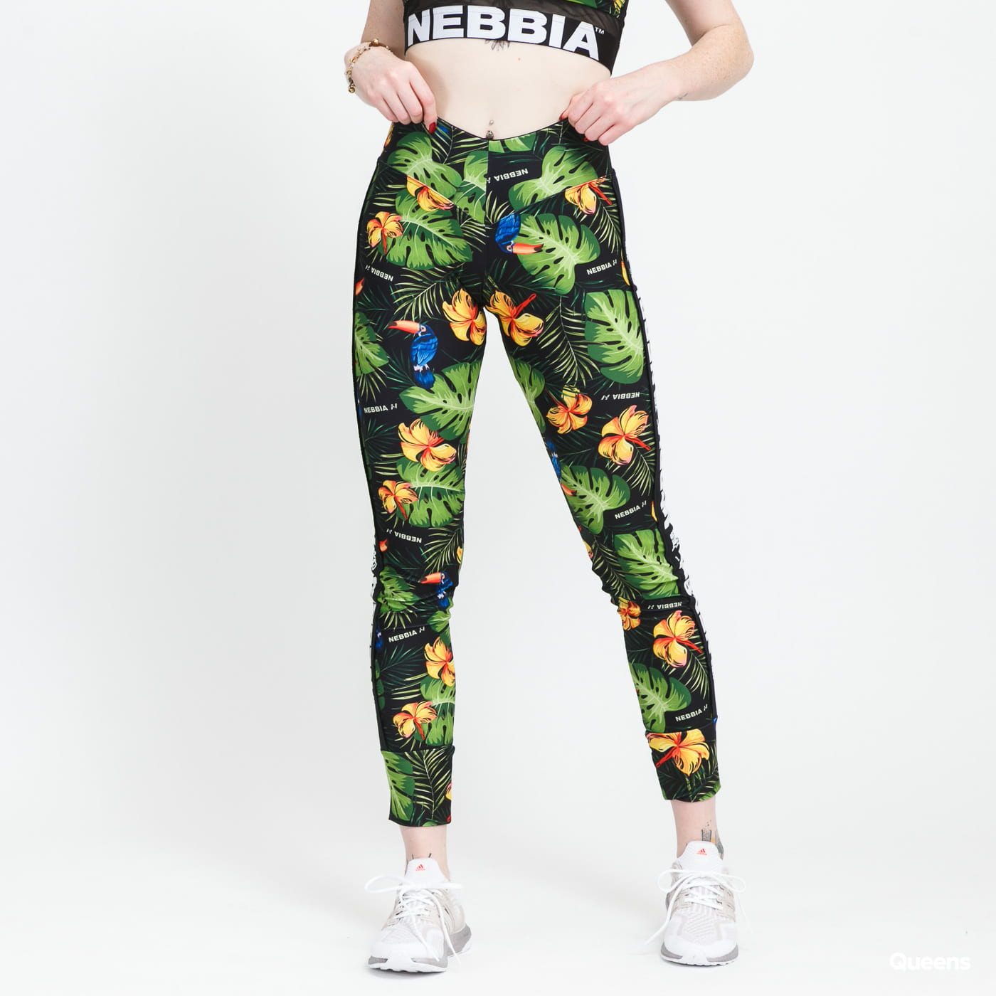 Nebbia High-Waist Performance Legging black / white / multicolor