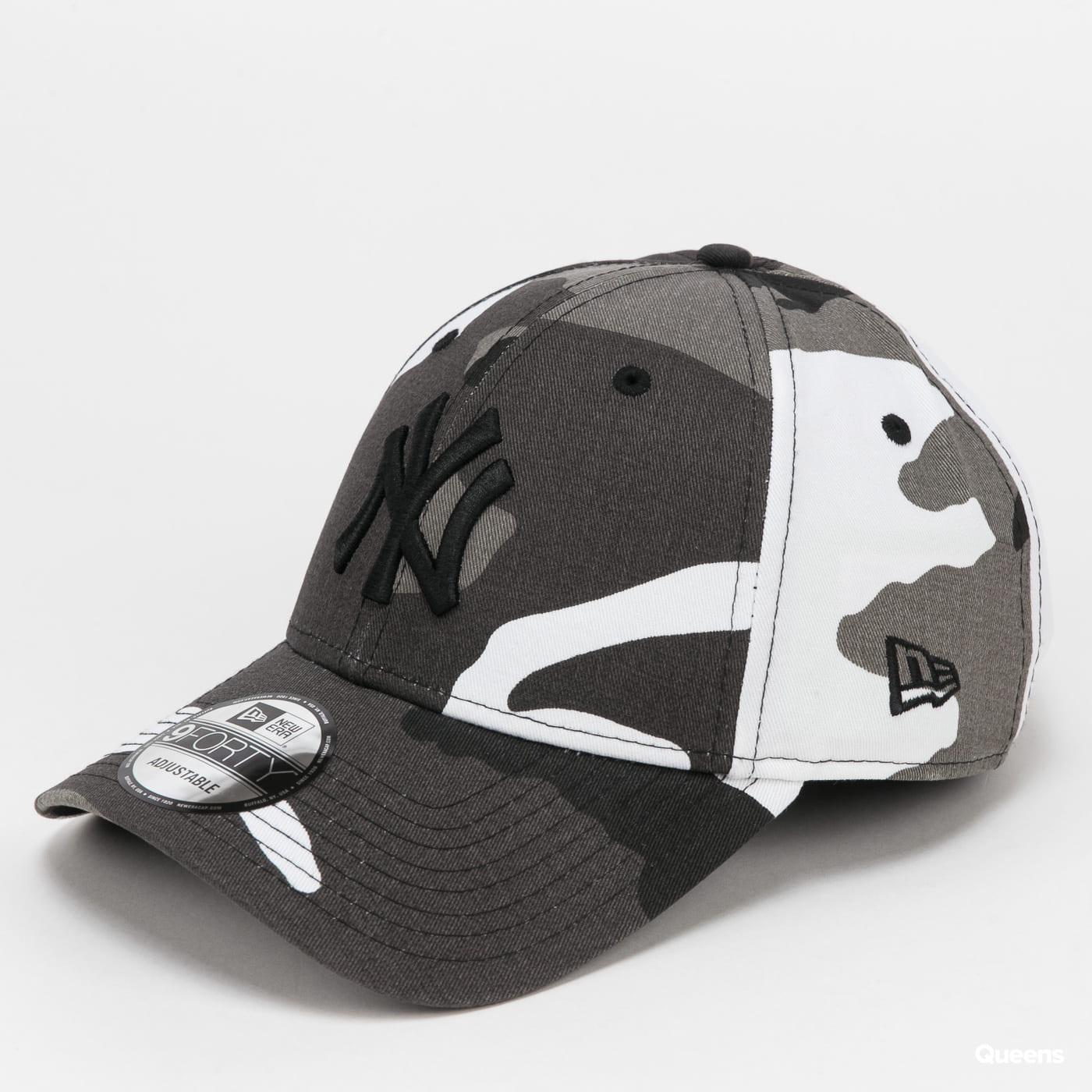 New Era 940 MLB Camo Pack NY camo šedá / bílá / černá