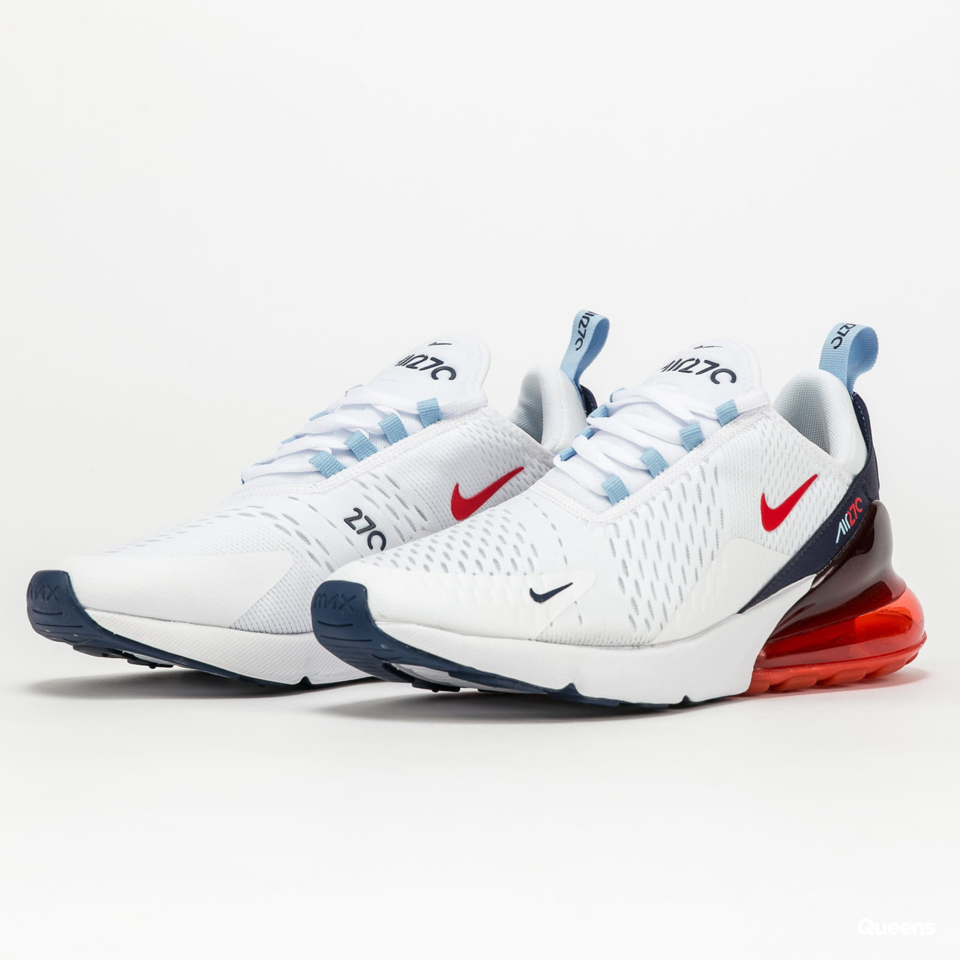 Nike Air Max 270 white / chile red - midnight navy