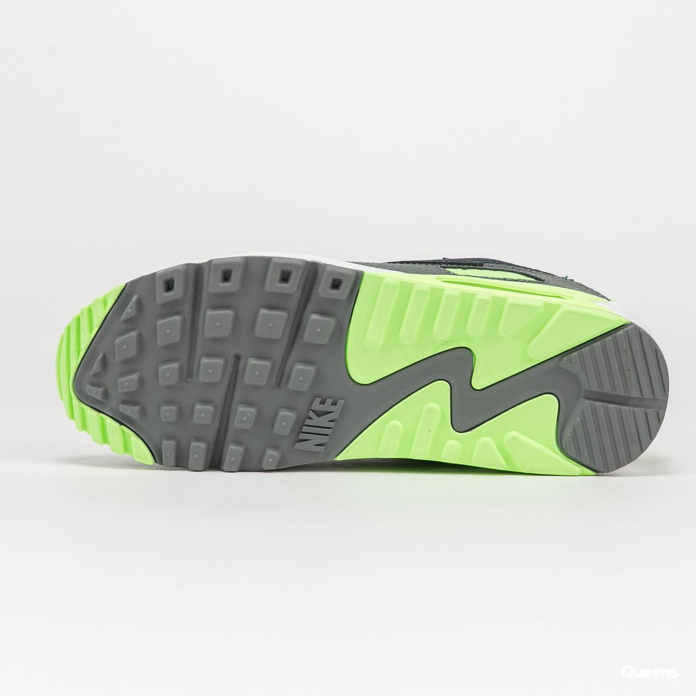 Nike Air Max 90 white / aquamarine - lime glow