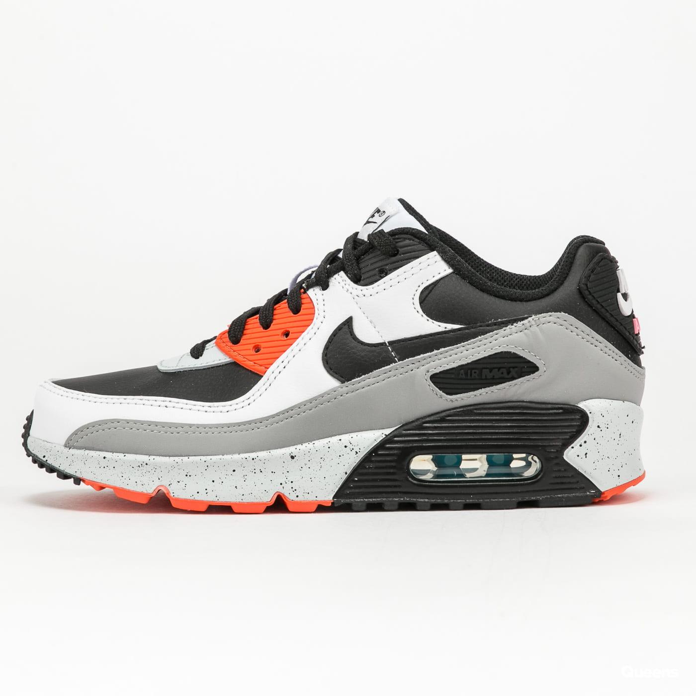Nike Air Max 90 Leather (GS) white / black - turf orange