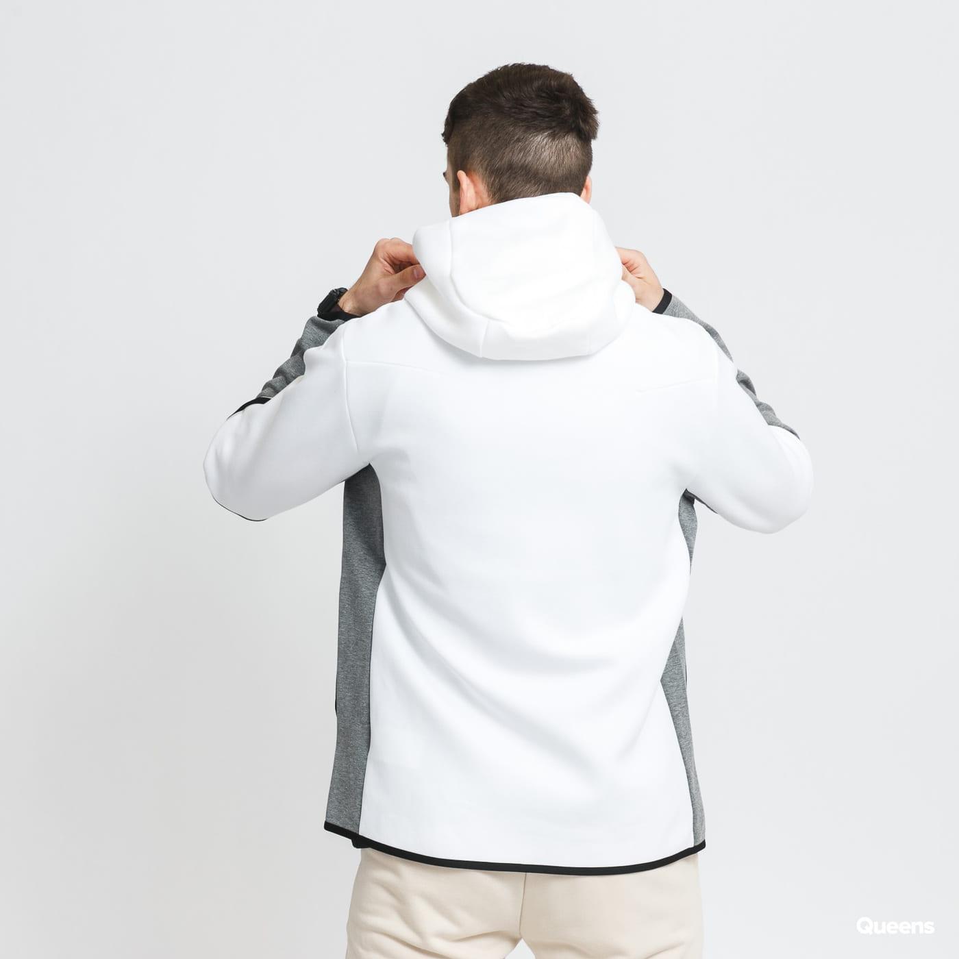 Nike M NSW Tech Fleece Hoodie FZ black / white / melange gray