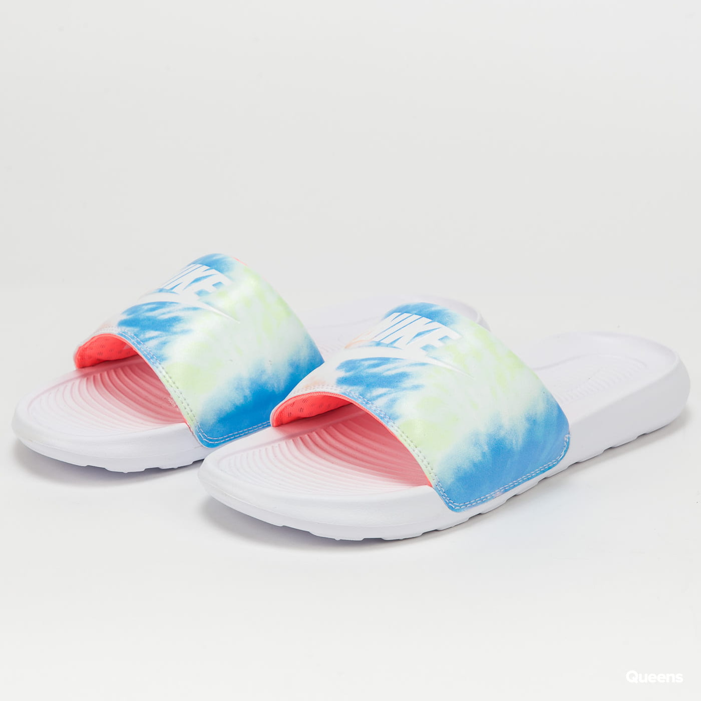 Nike W Victori One Slide Print white / white - bright mango