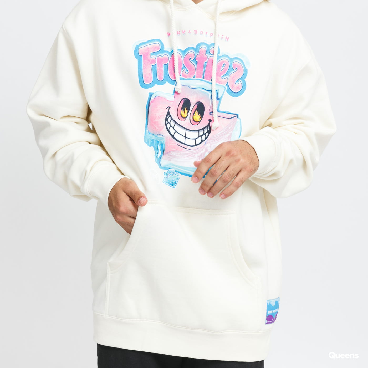 Pink Dolphin Frostiez Frozen Hoodie cream