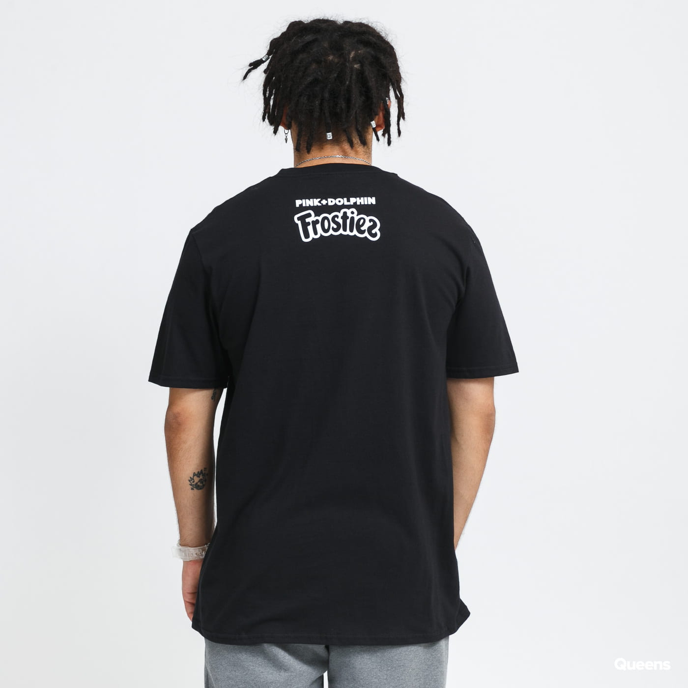 Pink Dolphin Pink + Frostiez Smiley Tee black stone washed no length