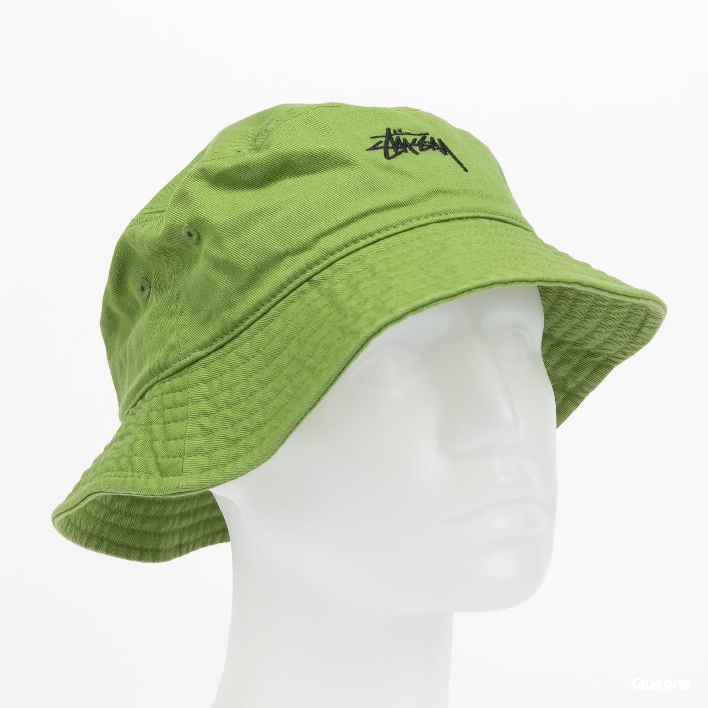 Stüssy Stock Bucket Hat green