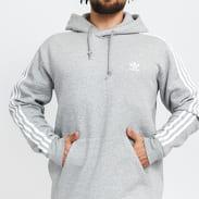 adidas Originals 3Stripes Hoody melange šedá