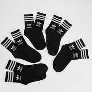 adidas Originals 5 Pack Mid Cut Crew Socks černé