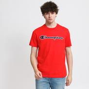 Champion Logo Crew Neck Tee červené