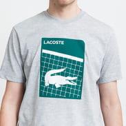 LACOSTE Men's Sport 3D Print Tee melange šedé