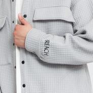 PREACH Oversized Shirt Jacket šedá