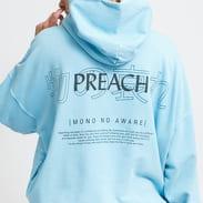 PREACH Oversized Sidepocket Character Hoodie modrá