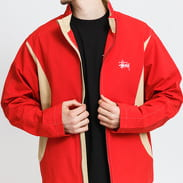 Stüssy Panel Track Jacket červená / béžová